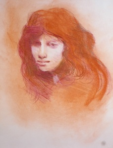 Floria   conte chalk drawing