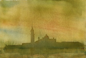 "Venice, watercolor, 7 1/2""x11"""