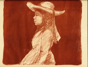 """The Sun Hat""  Lithograph"