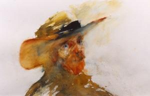 """""""The Veteran""""   watercolor   17""""x24"""""""
