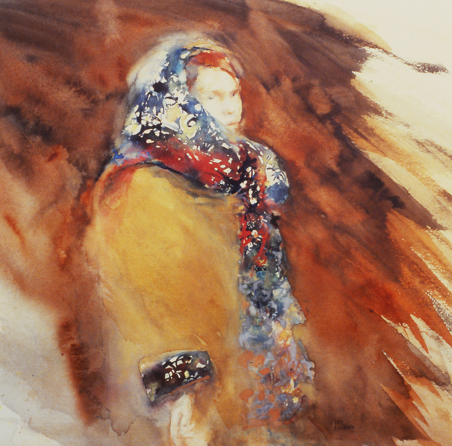 The Silk Scarf  watercolor