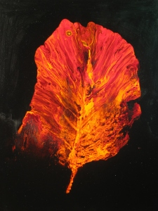 "Viscosity XV  September Leaf 20""x16"""