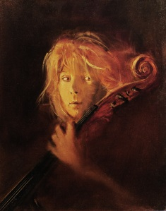 """Debbie, Posing With My Cello II""   20""x16"""