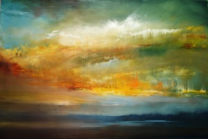 "The Six Foot Sunset   48""x72"""