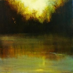 "Pond Sunset   24""x24"""