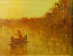 "Canoe    12""x16"""