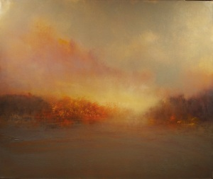 "Sunset At The Lake  32""x38"""