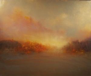 """Sunset At The Lake  32""""x38"""""""