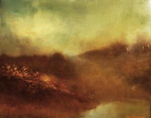 "Dusk, Edge Of The River    24""x30"""
