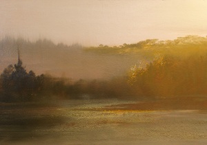 """Morning Fog, The Lake""    16""x24"""