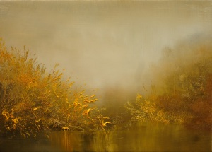 "Golden Mist  oil on canvas  10"" x 14"""