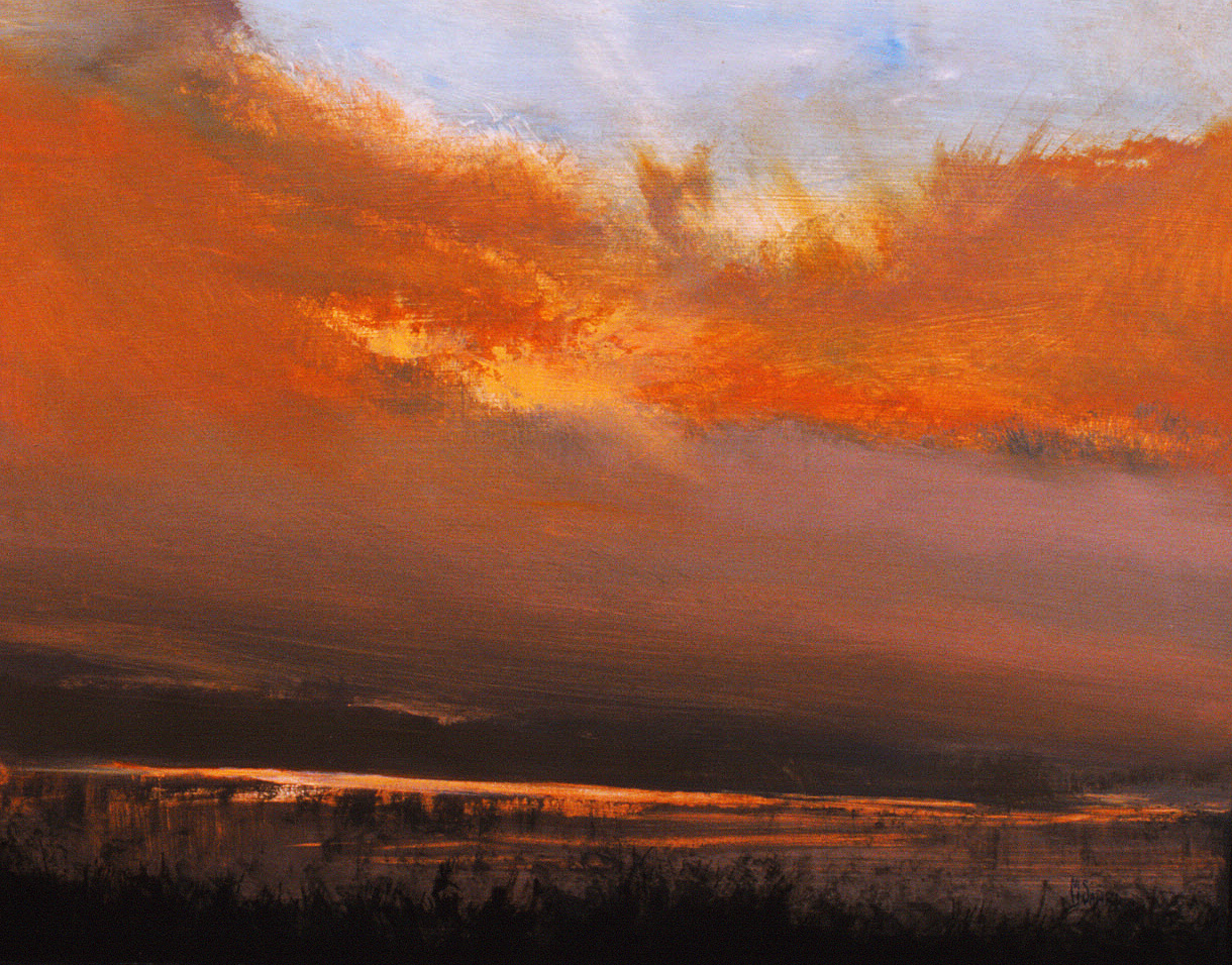 """Red Clouds, Reflected (16""""x20"""")"""