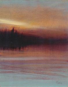 "Crimson Pines  10""x8""  oil on panel"
