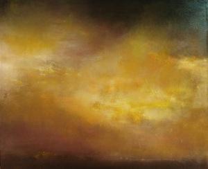 """Skyscape I""  30″x36″   oil oncanvas"