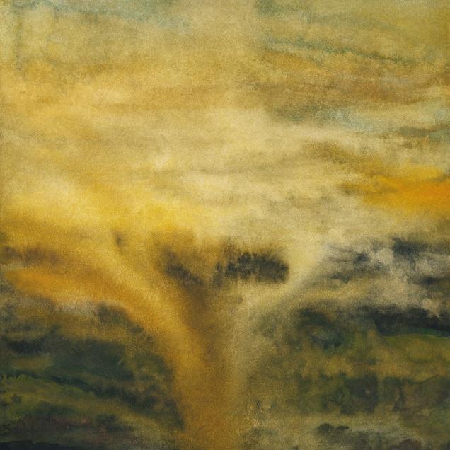 """Cloudburst"" (watercolor, 8 1/2"" x 10"")"