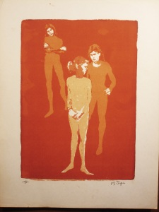 """Three Dancers""   18""x13""   silkscreen"