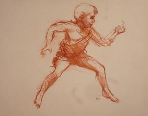 """""""Sketch""""     11″x14″ contesanguine"""
