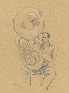 """Don And His Sousaphone""   10""x8""   pencil"