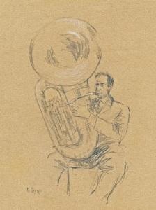"""Don And His Sousaphone""   10""x8""   pencil"