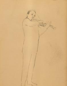 """""""Sonata For Violin""""  9""""x12""""  pencil"""