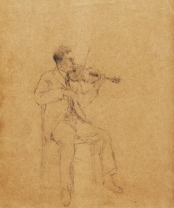 """""Violinist""     10""x8""     pencil"