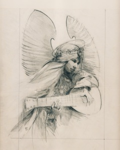 """Angel With Lute""    pencil"
