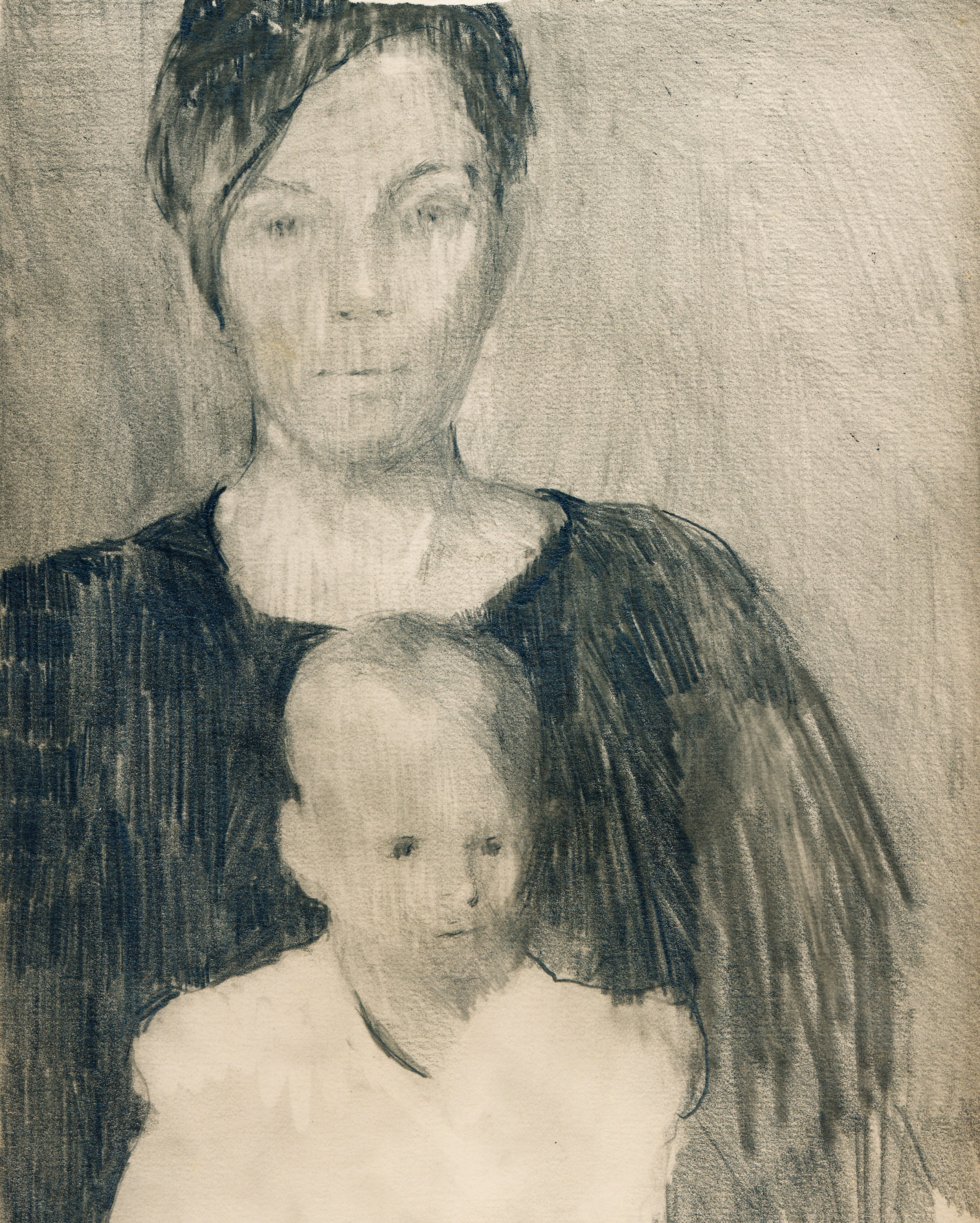 Mother And Child (pencil drawing) | Maurice Sapiro