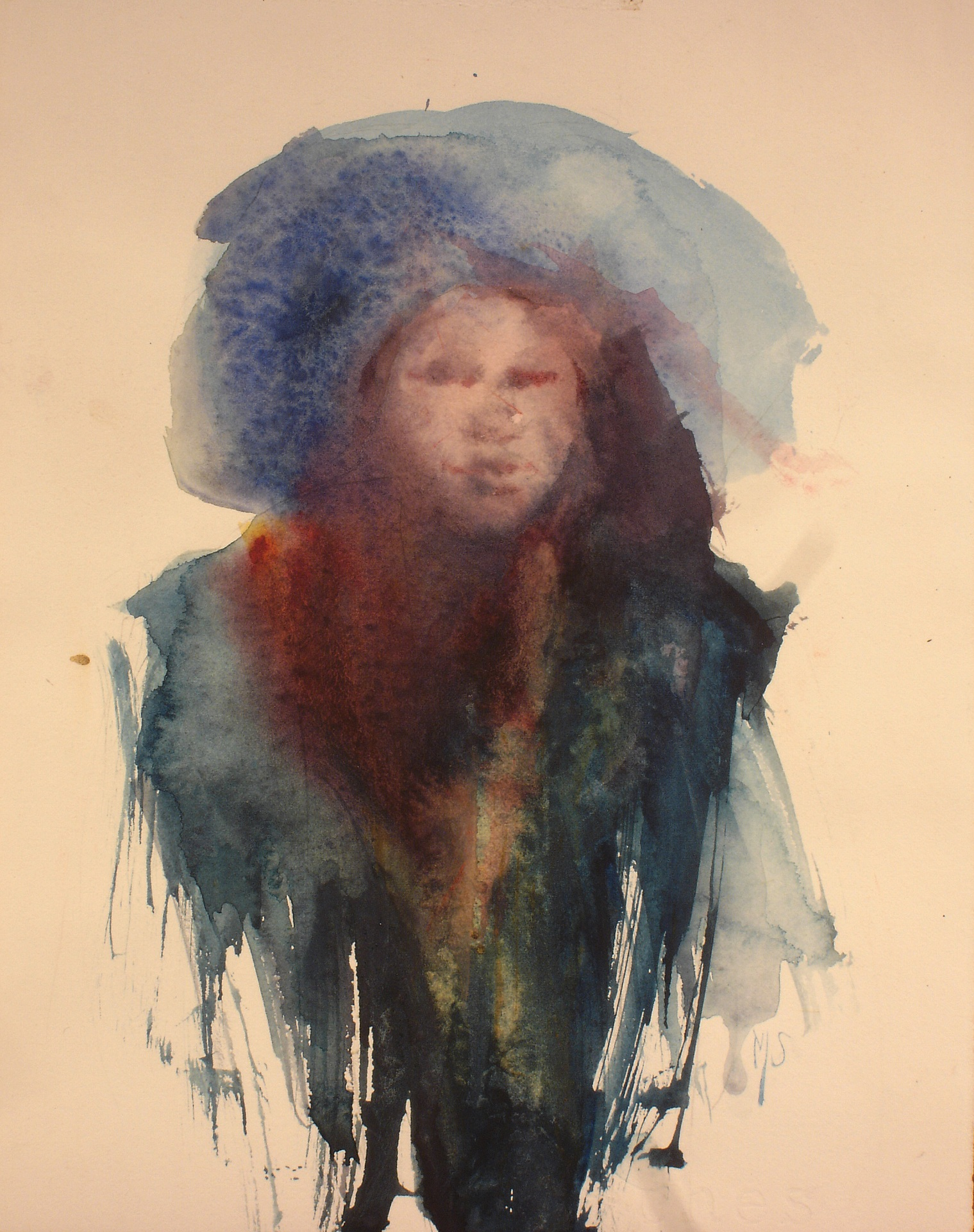 """""""The Blue Hat""""  9""""x7"""""""
