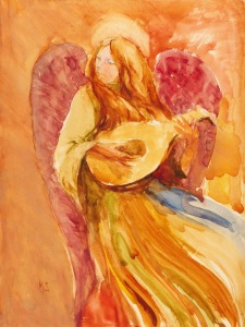 """""""Angel With Lute  IV""""      11""""x8"""""""