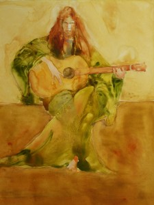 "The Guitar Recital"" 12""x9"""
