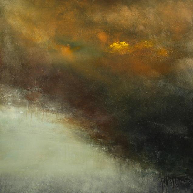 "The Rain Cloud (oil on panel, 24"" x 24"")"