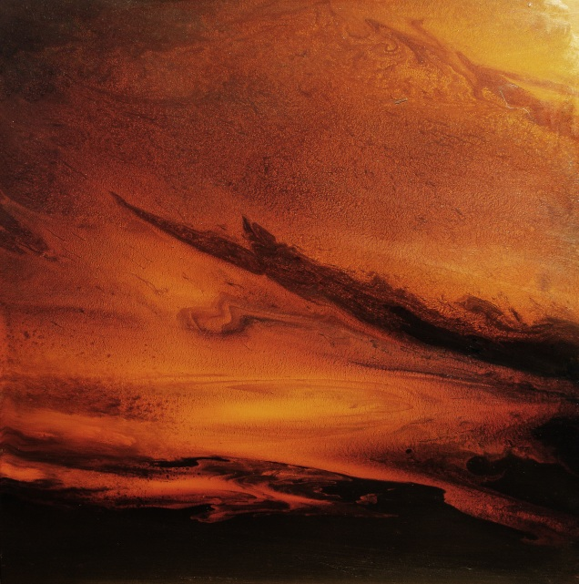 "Nocturnal Clouds (oil on panel, 16"" x 16"")"