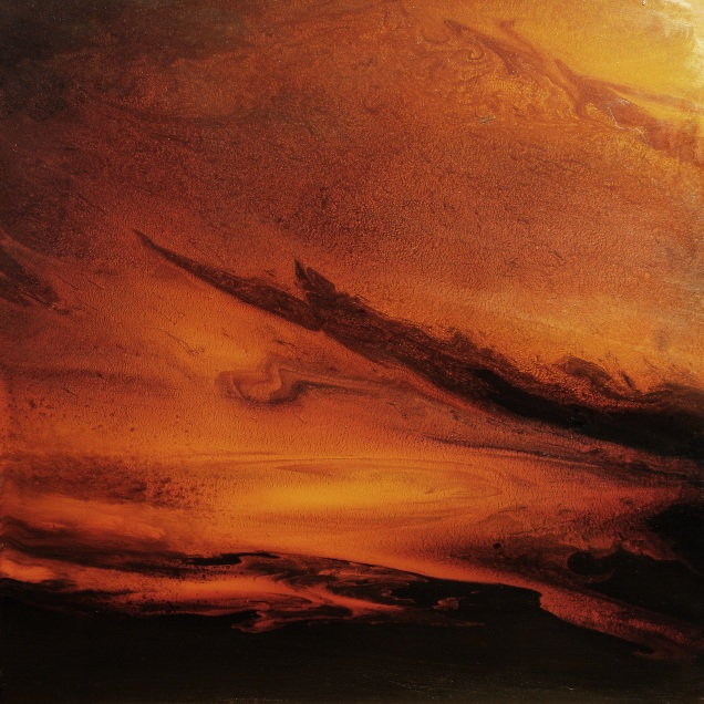 """Nocturnal Clouds (oil on panel, 16"""" x 16"""")"""