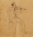 Violinist (10″x8″, pencil)
