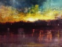 "Sunset In Paris (Oil On Canvas, 20""x24"")"