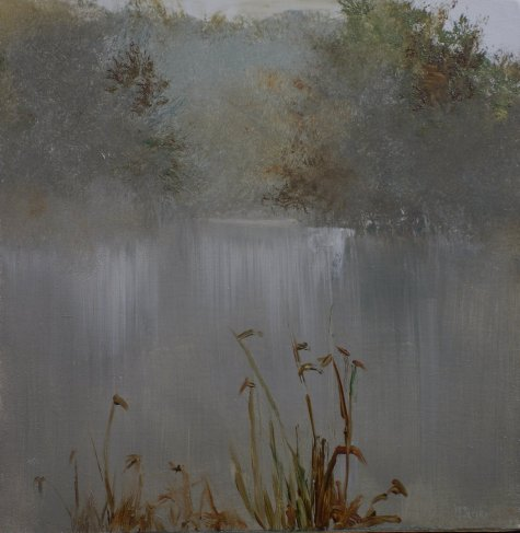 Foggy Marsh (Painting)