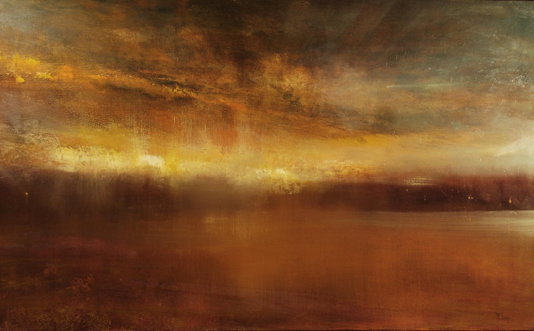 "oil on canvas  22""x36"""