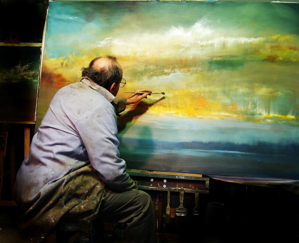 "In My Studio: Painting ""The Six Foot Sunset"""