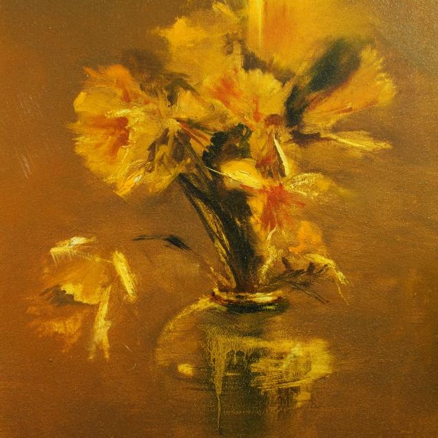 Stoneware Vase, A Burst Of Yellow
