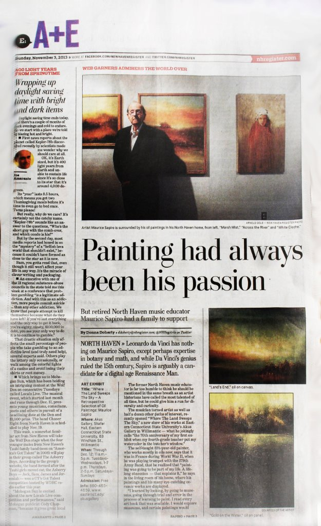 Maurice Sapiro Featured In The New Haven Register