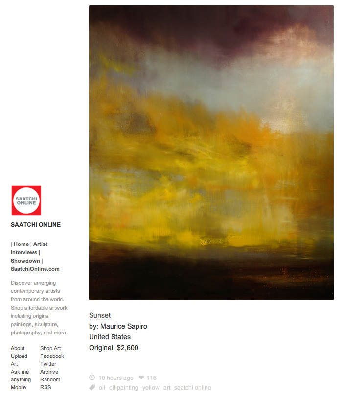 """Sunset"" by Maurice Sapiro Featured In Saatchi Online Blog"