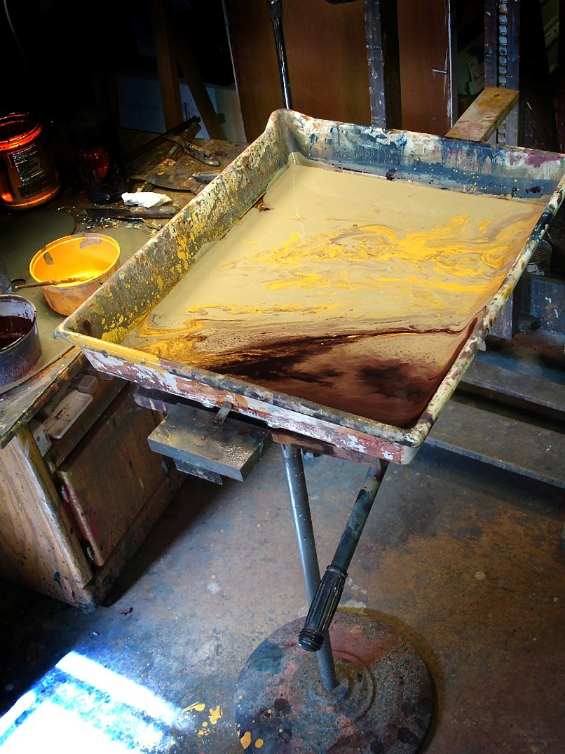 easel for the pour paintings